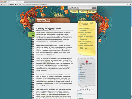 Screenshot of Choosing a Blogging Service Post