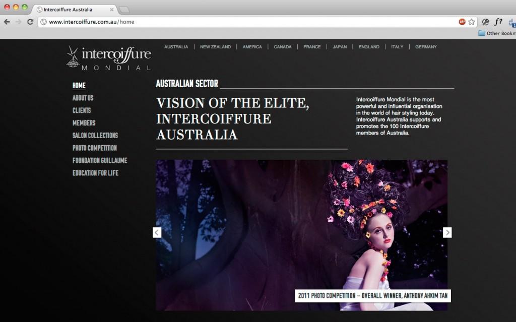 Intercoiffure Australia Website