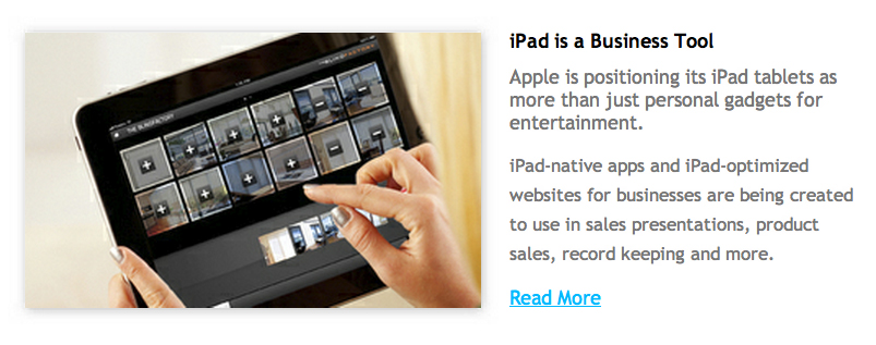 iPad as a Business Tool