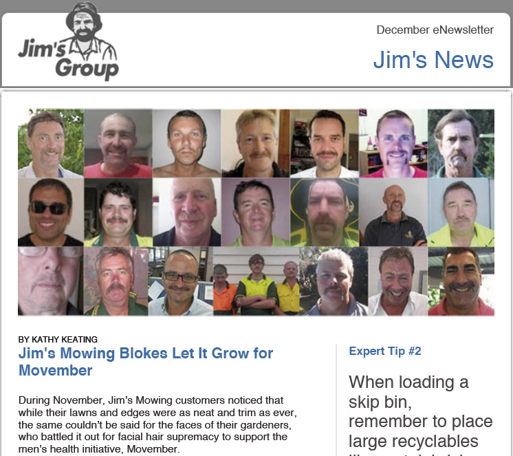 Jim's Group Dec 2011 Email Newsletter