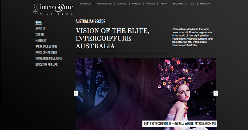 The Homepage of the Intercoiffure Australia website