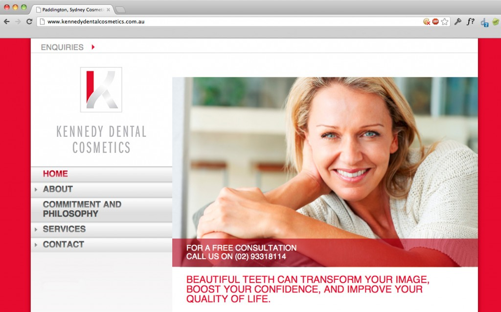 Kennedy Dental Cosmetics Website