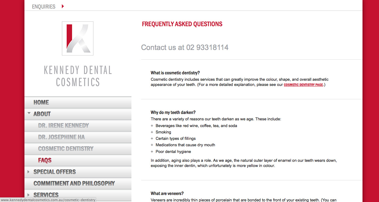 kennedy_dental_faqs_page