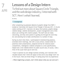 Lessons of a Design Intern