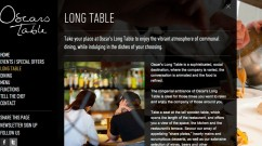 A page from the Oscar's Table website
